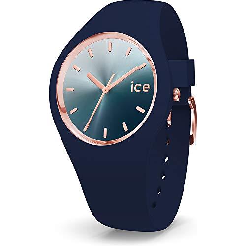 ICE-WATCH - ICE sunset Blue - Blaue Damenuhr mit Silikonarmband - 015751 (Medium)
