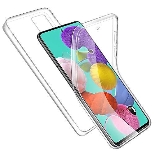 Funda para Samsung Galaxy A51 5G Carcasa Transparente TPU Silicona + PC Dura Trasera, E-Lush Funda Ultra Delgado Caso 360 Grado Full Body Anti-Arañazos Protectora Case Cover para Samsung Galaxy A51 5G
