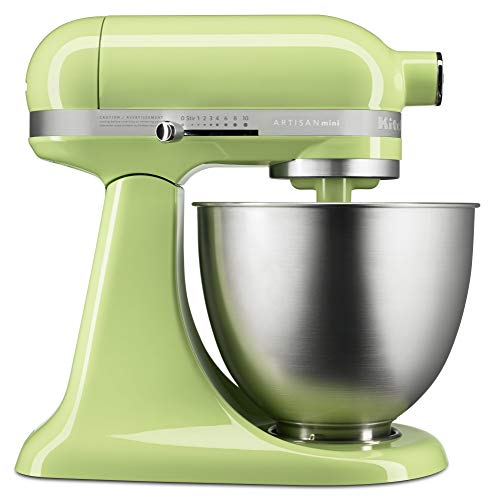 KitchenAid KSM3311XHW Artisan Mini Series Tilt-Head Stand Mixer, 3.5 quart
