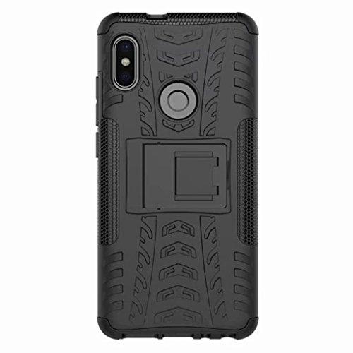 FaLiAng XiaoMi RedMi Note 5 (6,0inch) Funda, 2in1 Armadura Combinación A Prueba de Choques Heavy Duty Escudo Cáscara Dura para XiaoMi RedMi Note 5 (6,0inch) (Negro)