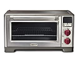 Wolf Gourmet WGCO100S Countertop Oven with Convection, Red knobs