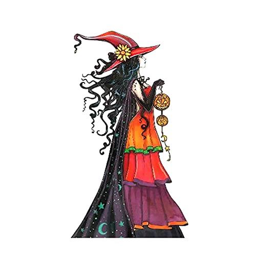 Metall Hexe, Metall Halloween Hexe Dekor, Hexen-Dekor, Hexengarten Dekoration buntes Plugin, für Halloween, Garten, Hof-Ornamente, Farbe, A/B