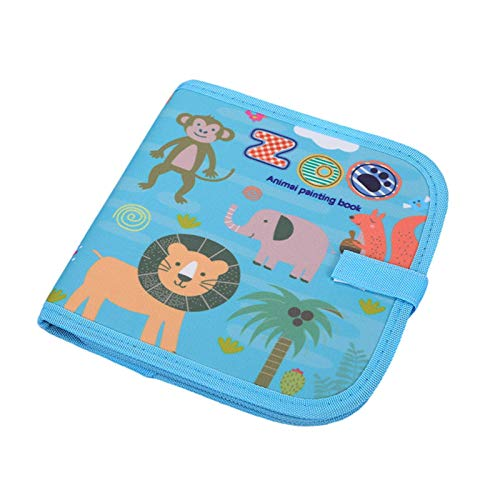 qingfeitai Libro borrable de garabatos, borrable de graffiti zoo zoo zoo dibujo, libros de viaje portátiles, juguetes educativos de aprendizaje temprano, libros de regalos para niños de 3 años +