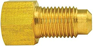 Brass Adapter, Female(3/8-24 Inverted), Male(3/8-24 Bubble), 10/bag