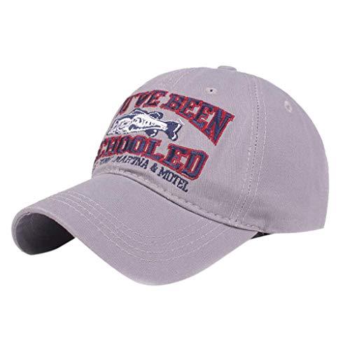 Tyoby Hüte Mützen Caps Unisex Trendelement Persönlichkeit Mode Sonnenhut Lässige Mütze(Grau)