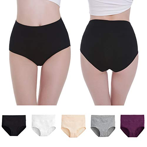 NUOZA Unterhosen Damen 5er Pack Unterwäsche Slip Pantys Mehrpack Baumwolle-Mix-XL