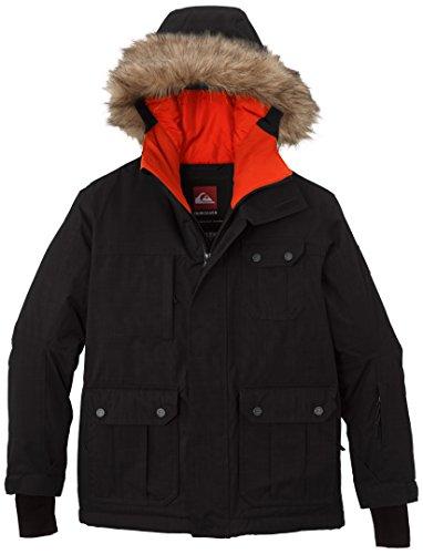 Quiksilver Jungen Snowboard Jacke Storm Y Jacket, Caviar, M