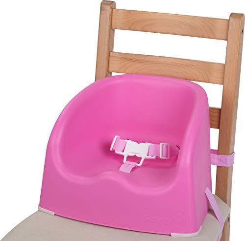Safety 1st 2776808000 Sitzerhöhung Essential Booster, schnelle und einfache Anbringung auf allen gängigen Esstischstühlen, rosa