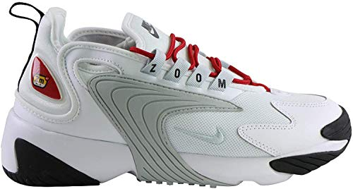 Nike Damen Zoom 2K Laufschuhe, Bianco White Pure Platinum Gym Red Black 107, 40.5 EU