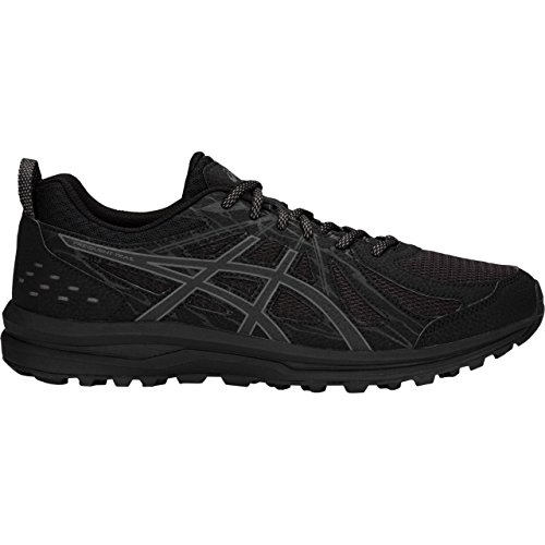 ASICS Men's Frequent Trail Running Shoes, Black/Carbon, 13