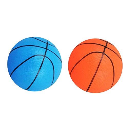 F Fityle 2 Piezas de Baloncesto Pelota Hinchable Deporte Inflable Al Aire Libre Juego de Interior Regalo Infantil PVC Multicolor
