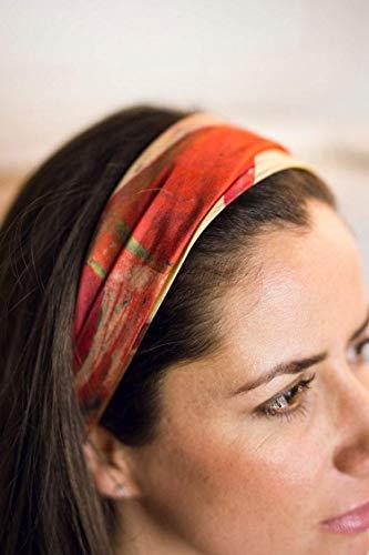 Pañuelo seda en estampado floral, Pañuelo de pelo, Cinta para la cabeza