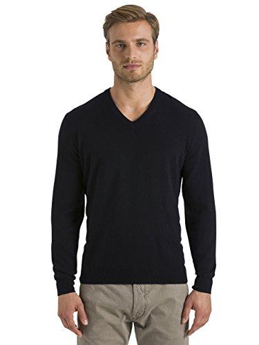 North Sails T-shirt pour homme avec col en V en laine Lowell Agneau Noir, Noir , M