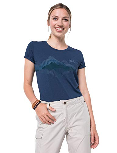 Jack Wolfskin Crosstrail Graphic T-Shirt Femme T-Shirt Femme Dark Indigo FR : XL (Taille Fabricant : XL)