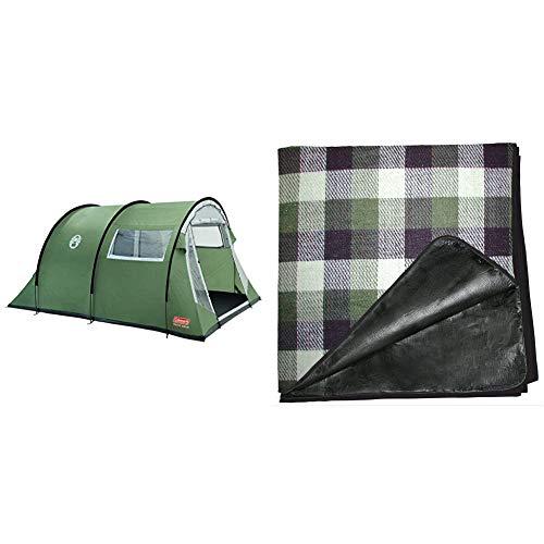 Coleman Coastline 4 Deluxe Tent - 4 Person & Tent Carpet 230 x 230 cm