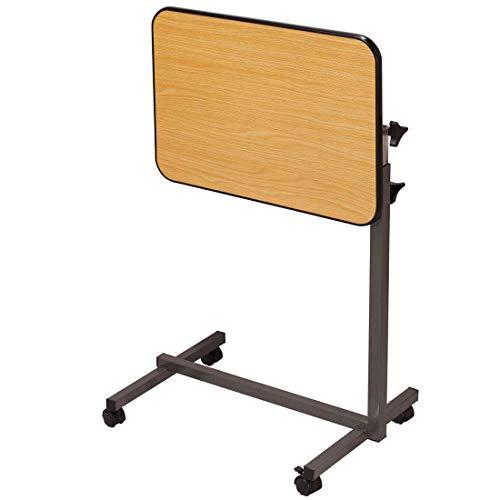 CBHLZ Roll-Tablett-Tisch mit Lenkrollen, höhen- und winkelverstellbar, Medizinischer Nachttisch Krankenhaus-Tablett Roll-Schreibtisch, für Bett Sofa Krankenhaus-Lesung Essen