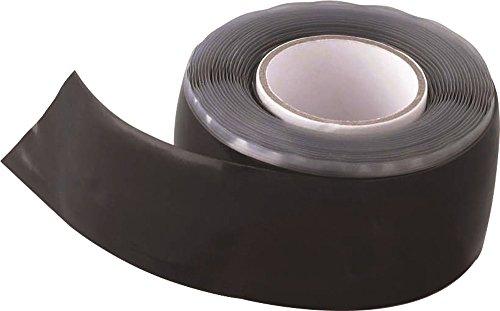 AGI Robur AGI231101 - Cinta de silicona autovulcanizante (25 mm x 3 m), color negro