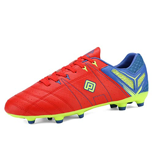 DREAM PAIRS Men's 160471-M Red Royal L.Green Cleats Football Soccer Shoes - 6.5 M US