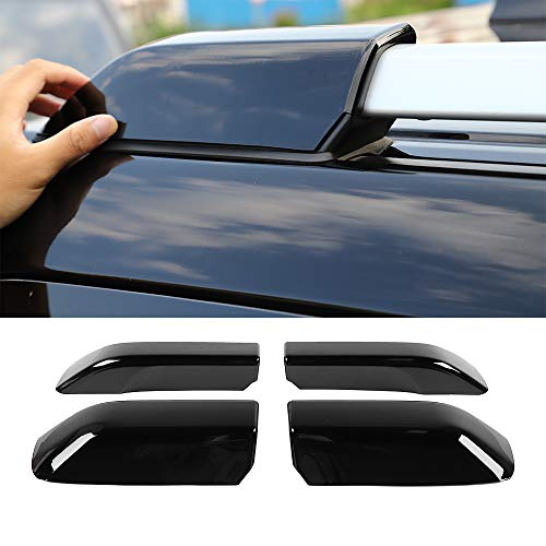 JeCar Roof Rails Rack End Cap Protection Cover Shell Roof Rails Rack Leg Cover End Cap Protection Cover Shell 4Runner Accessories for Toyota 4Runner 2010-1019 4Pcs Black