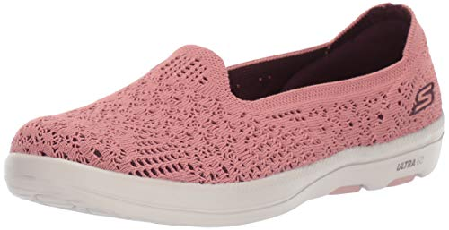 Skechers ON-The-GO Bliss ELATION, Zapatillas Mujer, Rosa (Rose Textile Ros), 38