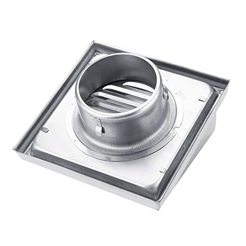 Rejilla de conducto de ventilación de aire anti-corrientes de acero inoxidable Rejilla de conducto de ventilación de aire cuadrada resistente a la corrosión, para unidades de aire