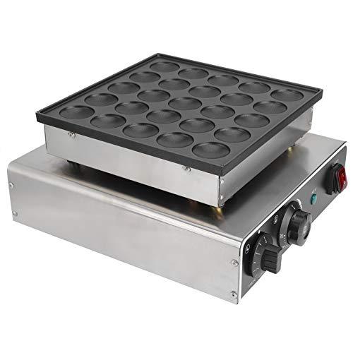 Máquina para hacer muffins de 25 agujeros, máquina Dorayaki de calentamiento rápido de 950 W, máquina para gofres redondos, utensilios para hornear antiadherentes con tubo de calentamiento(Negro)