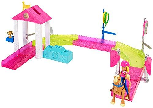 Barbie On the Go, carrera de ponis, muñeca con accesorios y caballo...
