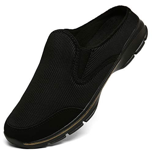 INMINPIN Unisex Hausschuhe Leichte Atmungsaktive Pantoffeln Slip On Walking Freizeit Schuhe für Damen Herren, Schwarz Plüsch, 40 EU