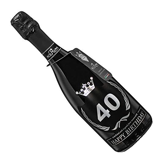 Acuruna Vino Spumante Geburtstag mit Swarovski Kristallen 0,75 l Edles Geburtstags-Geschenk Präsent Damen Herren (40)