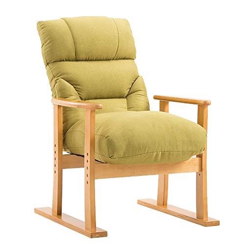FUFU Sillas de salón para patio, sillón reclinable plano de 180°, plegable, duradero, color verde