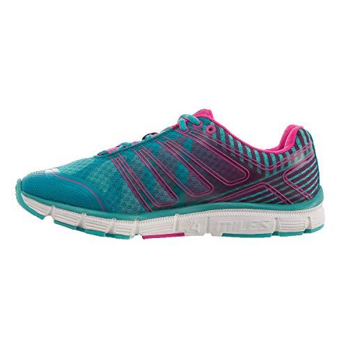 Salming Miles Damen Laufschuh, knöchelhoch, 10 m, Blau/Rosa/Weiß