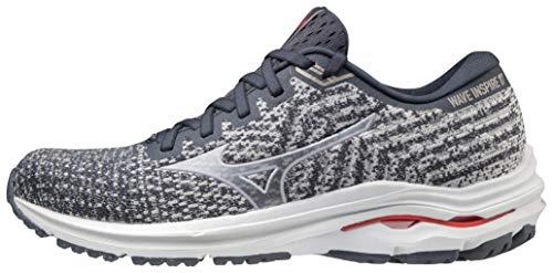 Mizuno Women's Wave Inspire 17 Running Shoe, India Ink-Lilac, 9.5 Wide