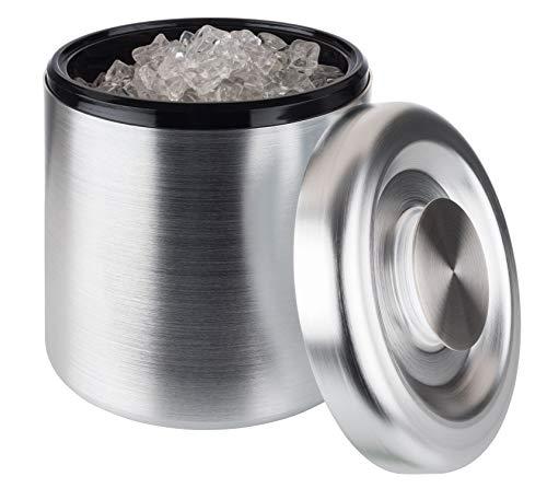 Buddy´s Bar - Eisbox, hochwertiger EIS-Eimer mit 5 Litern Fassungsvermögen, Eisbehälter Aluminium eloxiert - 18,5 cm x 18,5 cm x 20 cm