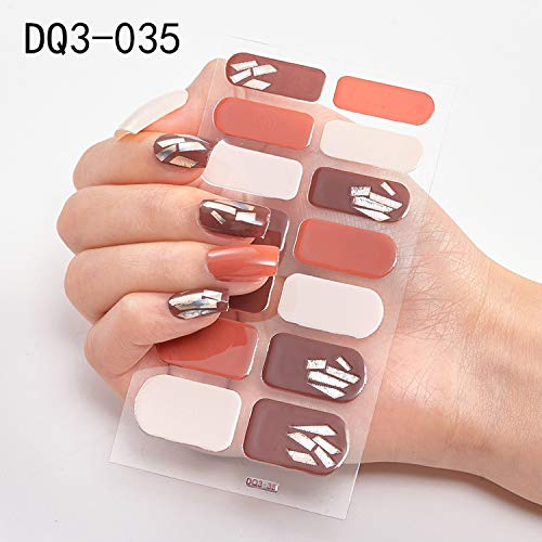Nail Art Fimo Slices Kit Nail Art 1 Feuille Nail Art Wraps Glitter Conseils Complets Mode 3D Nail Autocollants Imperméable Decal Manucure Nail Supplies-DQ3-035-