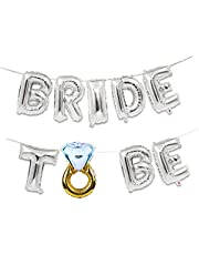 Bridal Wedding Party Shower 16inch Gold Silver Bride To Be Letter Foil Balloons Diamond Rings Balloon for Hen Party Favors Decorative