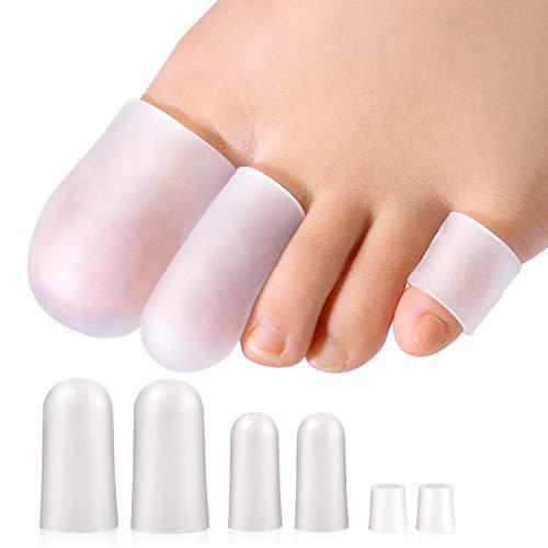 Promifun Zehenschutz, 14 Packungen Zehenschutz, Großzehenkappen, Kleinzehenschutz zur Linderung von Fußschmerzen, eingewachsene Zehennägel, Hühneraugen, Blasen, Hammerzehen