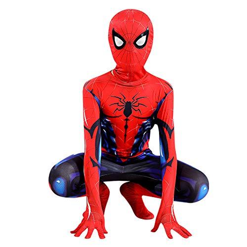 FSMJY Muskel Spiderman Kostüme Unisex Erwachsene Kinder Cosplay Jumpsuit 3D Print Kostüm Bodysuit Für Halloween Karneval Kostüm,Spiderman-170~180cm