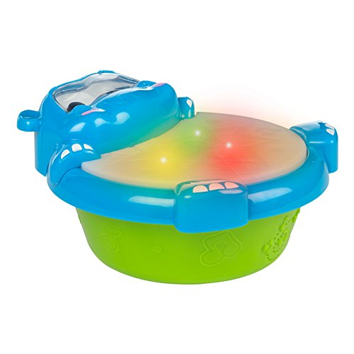 Winfun - Hipopótamo & tambor con luces y sonidos (ColorBaby 44536)