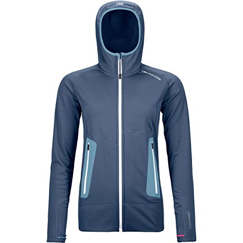 ORTOVOX Damen Fleece Light Hoody, Night Blue, M