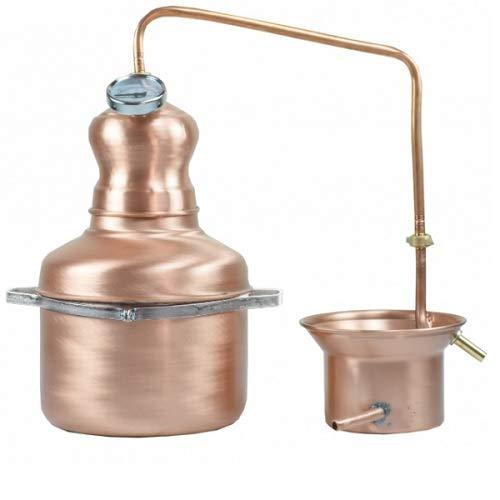 AgriStore di Cosenza V. Distillatore Alambicco da 5 Litri a serpentina per Grappa, Whisky, Brandy, ECC.