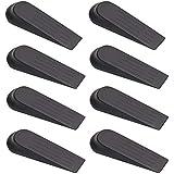 nuoshen 8 Pcs Non-Slip Door Wedge Stopper, Door Stop Wedges Black Door Stoppers for Home and Office