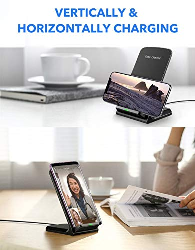 LOOKit 10W Fast Wireless Charger (Schwarz), Qi Ladegerät für Huawei P30 Pro Mate 20 Pro Huawei 2018 Google Pixel 3 4 Charger Samsung Galaxy S10 e + S9 S9+ LG V40 G7 ThinQ (C1 (10W/7W)) - 6