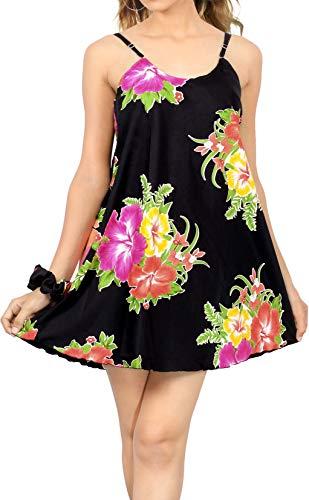 LA LEELA vrouwen Sundress Plus grootte strandjurk casual losse schommel Rosa_Z27 XL