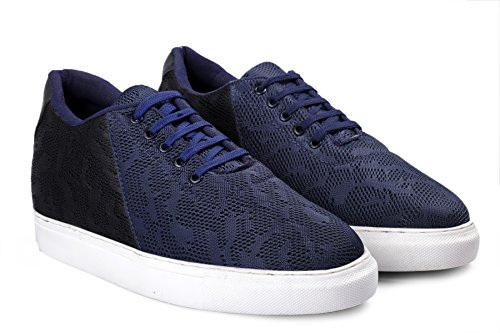 BXXY 2.8 Inch Hidden Height Increasing Casual Navy Colour Outdoor Shoes in TPR Sole. Height Elevator Shoes