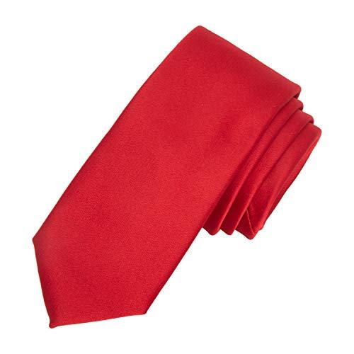 Dockers Neckwear - Corbata de cuello para niño, talla única, color rojo