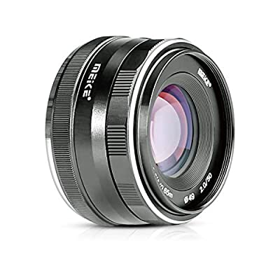 Meike 50mm f/2.0 Large Aperture Manual Focus MFT M4/3 Lens APS-C for Micro 4/3 System Olympus Panasonic Lumix Mirrorless Cameras by Meike