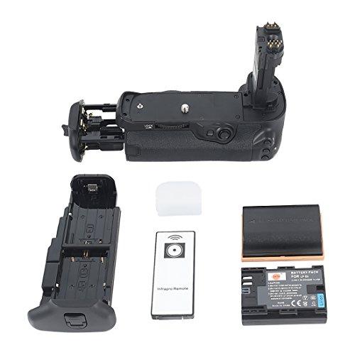 DSTE® Remoto Vertical Batería Apretón Titular Compatible con Canon EOS 7D Mark II DSLR Cámara Fotográfica como BG-E16H con 2-Pack LP-E6