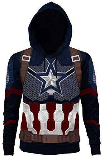 Caballeros Damas Chaqueta con Capucha Suéter con Capucha Chaqueta de Sudor Sudadera con Capucha Avengers Vengadores: Endgame Capitán America