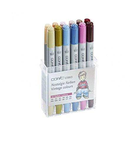 22075703Copic Ciao Set von 12, Farben Vintage