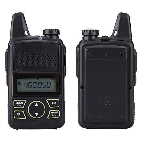 Liukouu Walkie Talkie, Mini Kids Walkie Talkie portátil UHF FM 400-470MHz Ham Radio bidireccional para Baofeng BF-T1(Enchufe de la UE)